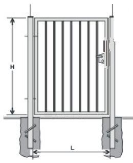Hot dipped galvanized Swing Gates (single leaf) 1800x1000 (filler-slugs) Paveikslėlis 1 iš 1 239370000022