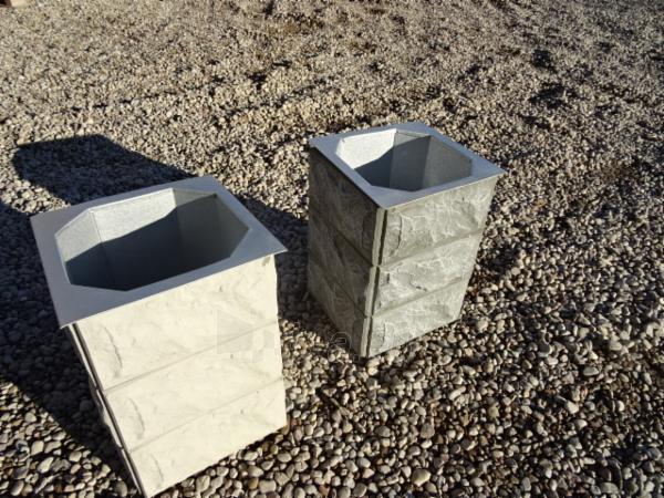 Šiukšlių dėžė su cinkuotu įdėklu, 45x32x45 cm Paveikslėlis 1 iš 1 237070000025