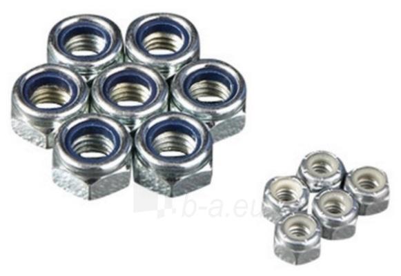 Veržlė DIN985 M18 (su plastikiniu žiedu) 50 vnt Paveikslėlis 1 iš 1 236117000024
