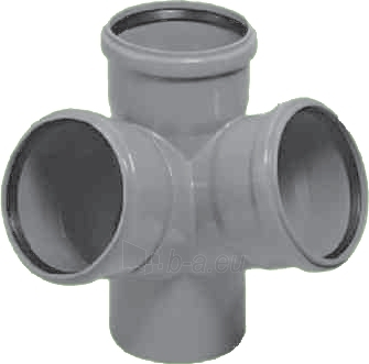 Vidaus kanalizacijos keturšakis HTED, kampinis, d 110 Paveikslėlis 2 iš 4 270523000017