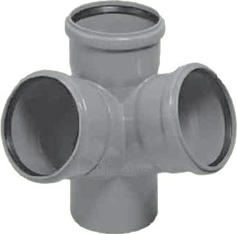 Vidaus kanalizacijos keturšakis HTED, kampinis, d 110 Paveikslėlis 1 iš 4 270523000017