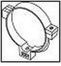 WAVIN Lietvamzdžio laikiklis 90 mm (baltas) Paveikslėlis 1 iš 1 237521200035