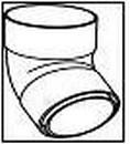 WAVIN dviejų movų alkūnė 90/67 laipsnių (grafitinė) Paveikslėlis 1 iš 1 237520900150