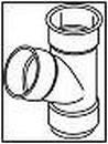 WAVIN trišakis 90x90/67 laipsn. (baltas) Paveikslėlis 1 iš 1 237521000015