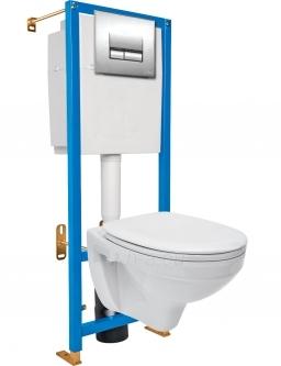 WC rėmas CERSANIT AQUA DELFI su dangčiu ir klavišu Paveikslėlis 1 iš 3 270790200091