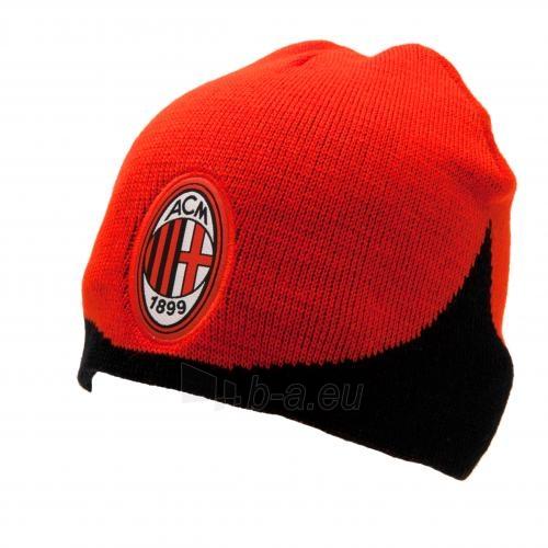 A.C. Milan žieminė kepurė (Raudona su juoda) Paveikslėlis 3 iš 3 251009000087