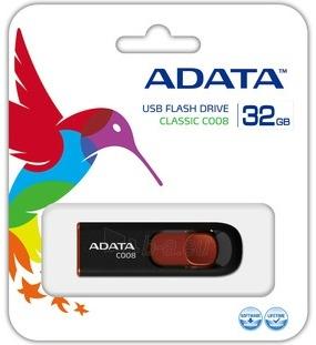 A-DATA Classic C008 32GB juoda+raudona USB atmintinė, Retail Paveikslėlis 2 iš 2 250255120985