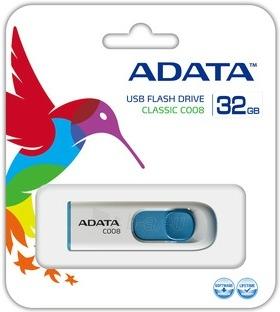A-DATA Classic C008 32GB White USB Flash Drive, Retail Paveikslėlis 2 iš 2 250255121935