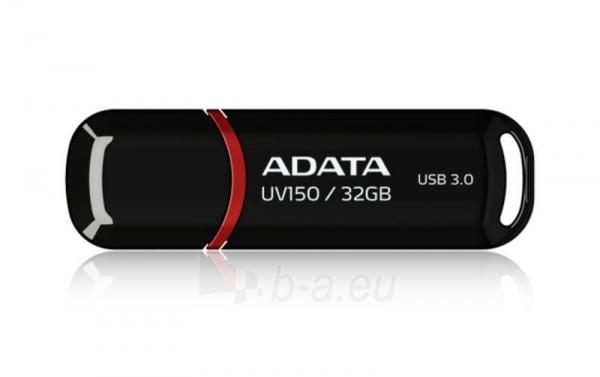 A-DATA DashDrive UV150 32GB Black USB 3.0 Flash Drive, Retail Paveikslėlis 1 iš 1 250255121027