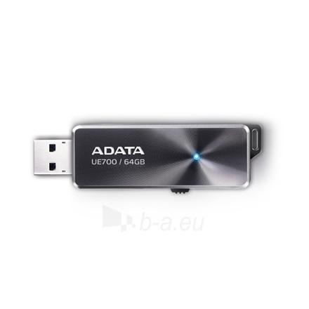 A-DATA Elite UE700 64GB Black USB 3.0 Flash Drive Paveikslėlis 1 iš 2 250255121033