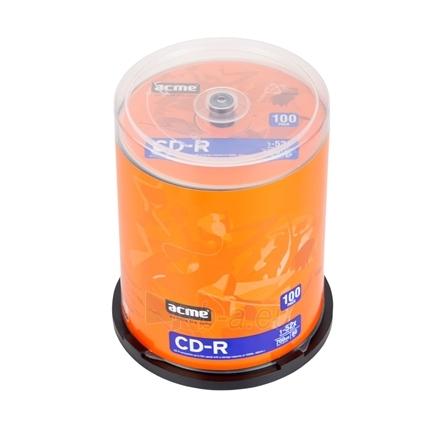 ACME CD-R 80/700MB 52X ''Cake'' dėžutėje 100 vnt Paveikslėlis 1 iš 1 250256800184