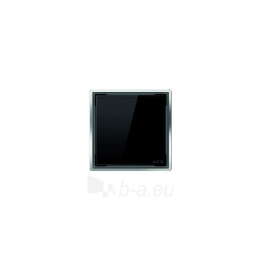 Aco kvadratinės stiklo grotelės, juodos Paveikslėlis 1 iš 1 270790000043