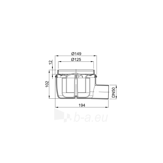 Aco plastikinis trapas DN50 50mm Paveikslėlis 2 iš 2 270530000206