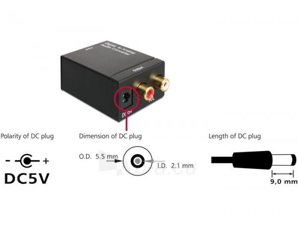 Adapteris Delock Audio Converter Digital > Analogue Paveikslėlis 2 iš 3 250255081587