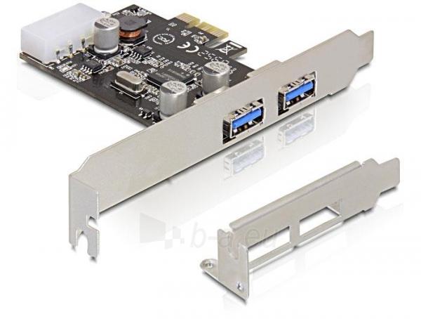 Adapteris Delock card pci express -> 2x USB 3.0 Paveikslėlis 1 iš 4 250255081588
