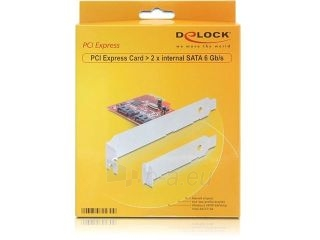 Adapteris Delock PCI Express Card > 2 x internal SATA III 6Gb/s Paveikslėlis 2 iš 2 250255081591