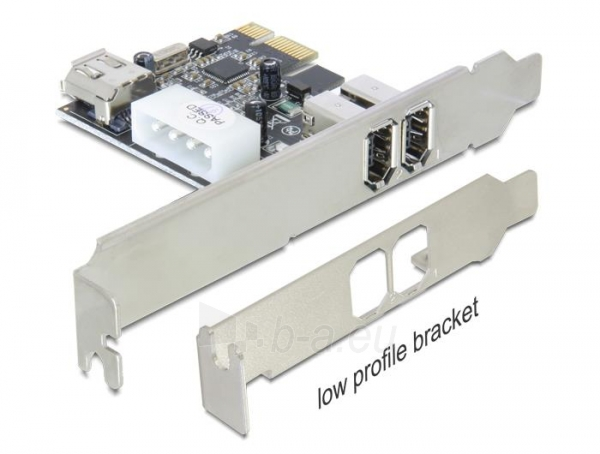 Adapteris Delock PCI Express Card FireWire A 2+1 Port Paveikslėlis 1 iš 1 250255081593