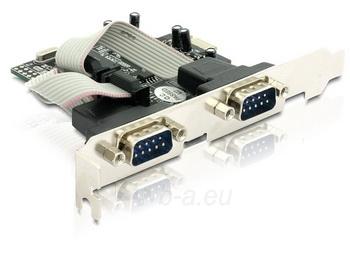 Adapteris Delock plokštė pci express -> 2x com 9pin Paveikslėlis 1 iš 2 250255081594