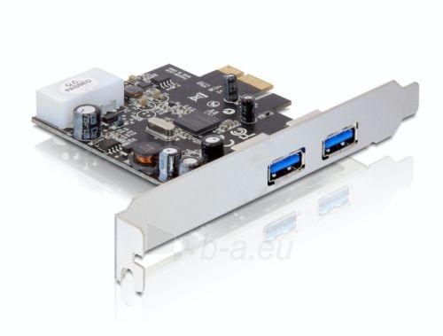 Adapteris Delock plokštė pci express -> 2x USB 3.0 + sliaustas LOW PROFILE Paveikslėlis 1 iš 4 250255081595