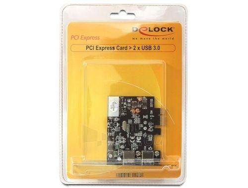 Adapteris Delock plokštė pci express -> 2x USB 3.0 + sliaustas LOW PROFILE Paveikslėlis 4 iš 4 250255081595