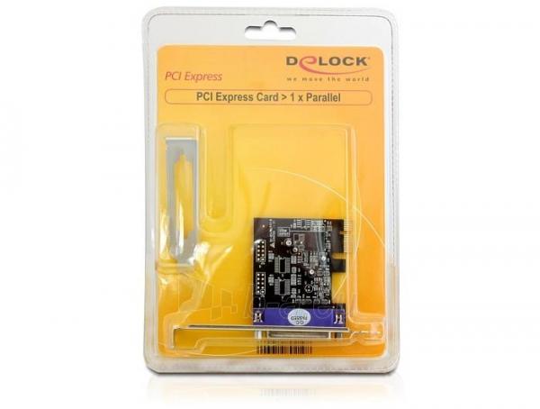 Adapteris Delock plokštė pci express -> lpt (Db25) Paveikslėlis 3 iš 3 250255081597
