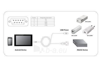 Adapteris Digitus microUSB2.0 to RS232 (DB9) Android adapter Paveikslėlis 3 iš 3 250255081604