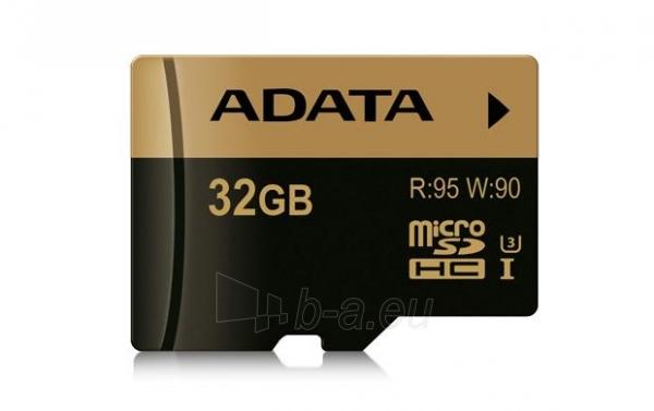 ADATA memory card SDXC UHS-I U3 32GB 95/90MB/s Paveikslėlis 1 iš 1 310820001906