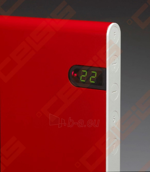 ADAX Elektrinis radiatorius NEO NL 08 KDT Red (200x1050x84) Paveikslėlis 3 iš 3 270683000152