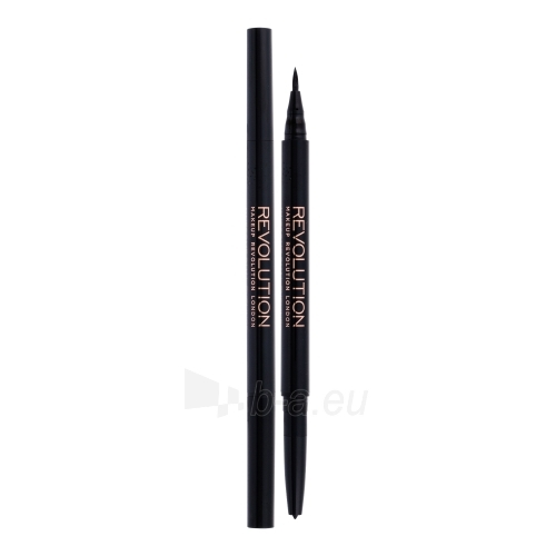 Akių kontūras Makeup Revolution London Awesome Dual Eyeliner Felt & Kohl Cosmetic 0,18g Shade Black Paveikslėlis 1 iš 1 310820124812