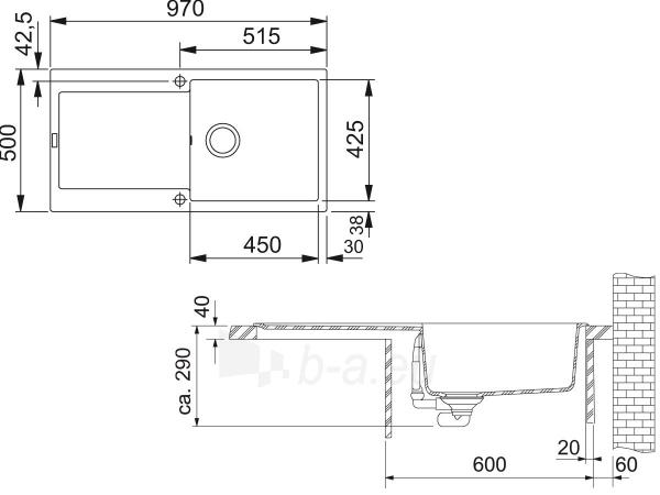 Akmens masės plautuvė FRANKE MRG 611-100 Juoda Paveikslėlis 4 iš 4 270712000315