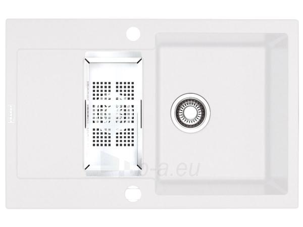 Akmens masės plautuvė FRANKE MRG 651-78 Balta Paveikslėlis 1 iš 6 270712000345