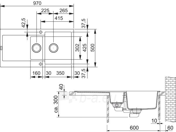 Akmens masės plautuvė FRANKE MRG 651 Juoda Paveikslėlis 6 iš 6 270712000341