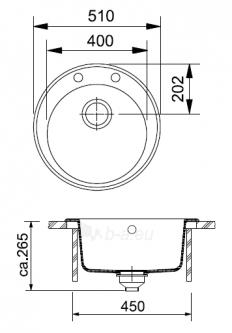 Akmens masės plautuvė FRANKE ROG 610-41 Kašmyras, ventilis ekscentrinis Paveikslėlis 2 iš 8 270712000911