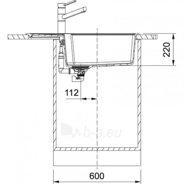 Akmens masės plautuvė Franke Urban, UBG 611-78 XL, Graphit Paveikslėlis 5 iš 5 310820237786