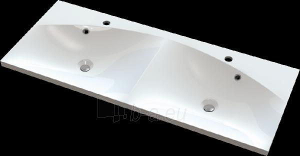 Akmens masės praustuvas AOSTA (1200x500 mm) dvigubas Paveikslėlis 1 iš 2 310820043983