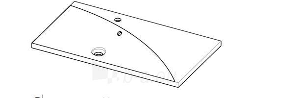Akmens masės praustuvas AOSTA (900x500 mm) padėklas dešinėje Paveikslėlis 2 iš 3 310820043969