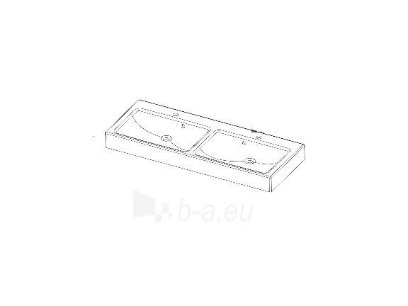 Akmens masės praustuvas DRACO (1200x470mm) dvigubas Paveikslėlis 3 iš 3 310820042952