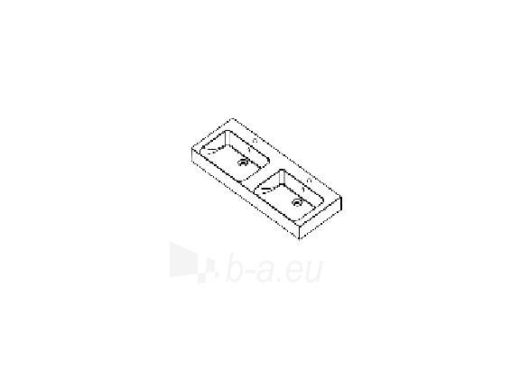 Akmens masės praustuvas PALERMO II (1200x460 mm) dvigubas Paveikslėlis 3 iš 3 310820043029