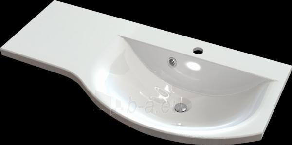 Akmens masės retro praustuvas CALABRIA (900x435 mm) padėklas kairėje Paveikslėlis 1 iš 2 310820039407