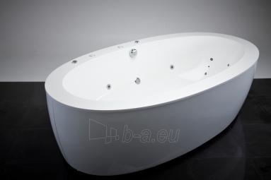 Akmens masės vonia VISPOOL FESTA 2040x1100 balta su apdailomis Paveikslėlis 7 iš 8 270716000555