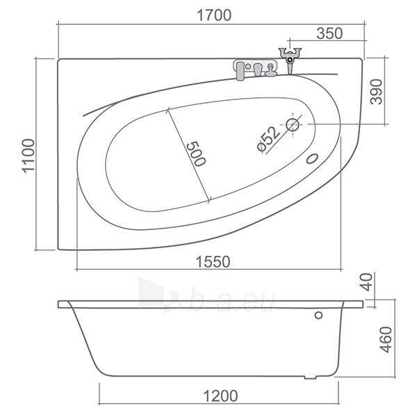 Akrilinė vonia Isabella Neo (L) 1700x1100 Paveikslėlis 2 iš 2 310820163450