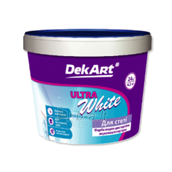 Akriliniai dažai DekArt Ultrawhite 12,6 kg Paveikslėlis 1 iš 1 236504000107