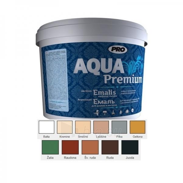 Dažai AQUA PREMIUM EMALIS 3 L kreminė mat. Mediniams metaliniams paviršiams Paveikslėlis 2 iš 2 236520000909