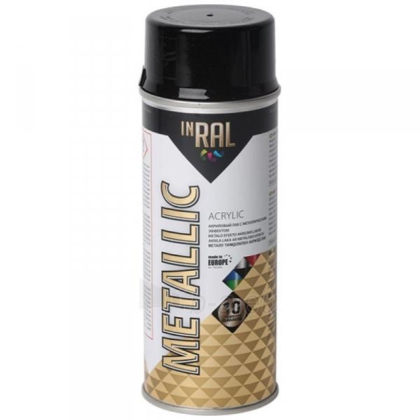 Akrilinis lakas INRAL METALLIC 400ml grafito juoda sp. Paveikslėlis 1 iš 1 310820023745