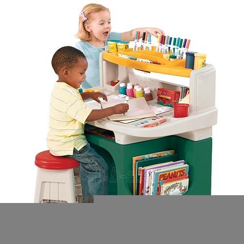 Aktyvių menininkų vaikiškas darbo stalas | Art Master Activity Desk | Step2 Paveikslėlis 1 iš 6 310820004216