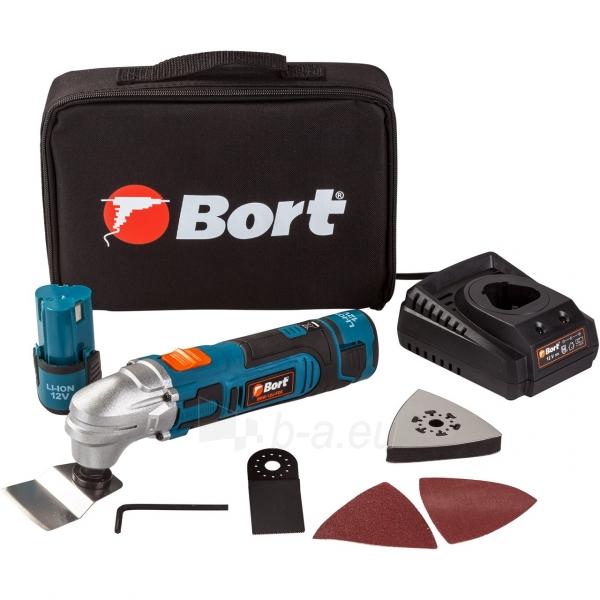 Akumuliatorinis daugiafunkcinis įrankis Bort BMW-12Li-FDK, 12V, 2x1,5Ah Paveikslėlis 1 iš 4 310820194470