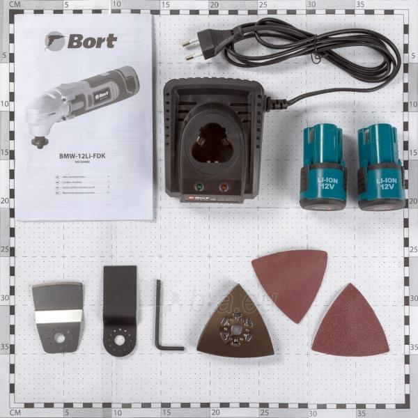 Akumuliatorinis daugiafunkcinis įrankis Bort BMW-12Li-FDK, 12V, 2x1,5Ah Paveikslėlis 3 iš 4 310820194470