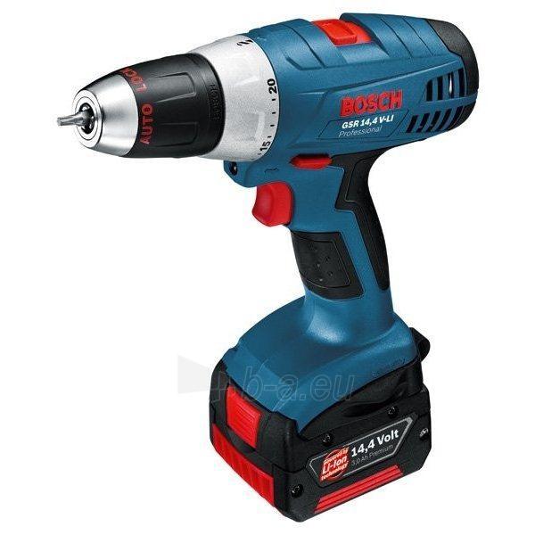 Cordless drill Screwdriver Bosch GSR 14,4 V-Li 3Ah Paveikslėlis 1 iš 1 300421000098