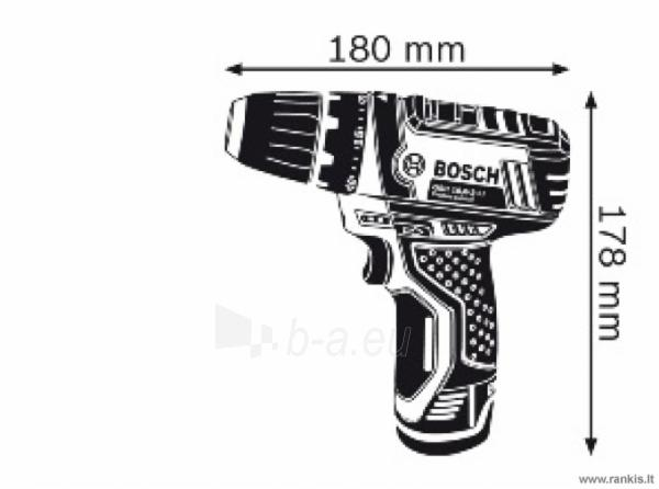 Cordless BOSCH GSR 10,8-2 LI Professional, 2x1,5 Ah; Paveikslėlis 2 iš 4 310820049245