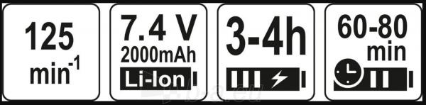 Akumuliatorinis turbo šepetys STHOR 67180, 7,4V, 8,9W Paveikslėlis 5 iš 5 310820241698